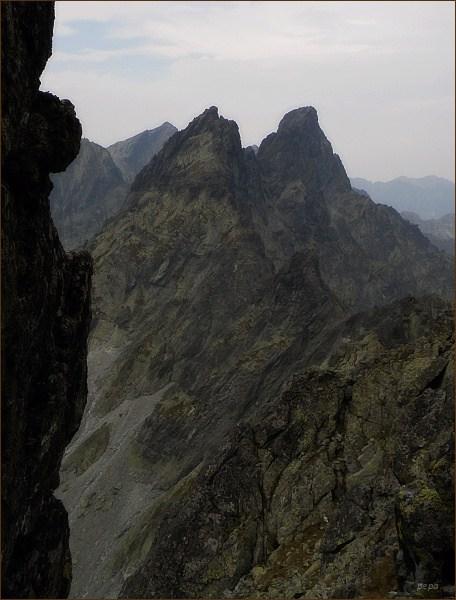 Zlobivá a Ganek (vpravo) z Popradského Ľadového štítu