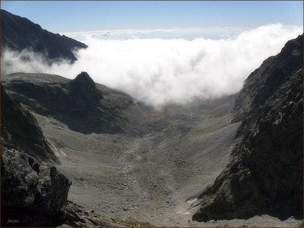 Popradský Ľadový štít: Pohled do Batizovskej doliny