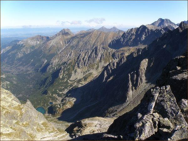 Pohled z Popradského Ľadového štítu k severu