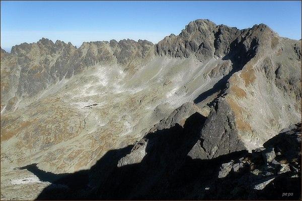 Hrubý vrch nad Nefcerkou. Pohled z Ostrej