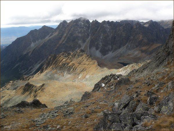 Mengusovská dolina a Volovec mengusovský z Volieho chrbátu