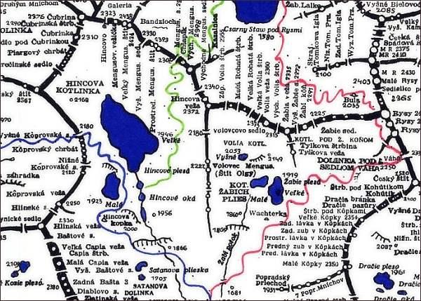 Volovec mengusovský, mapa