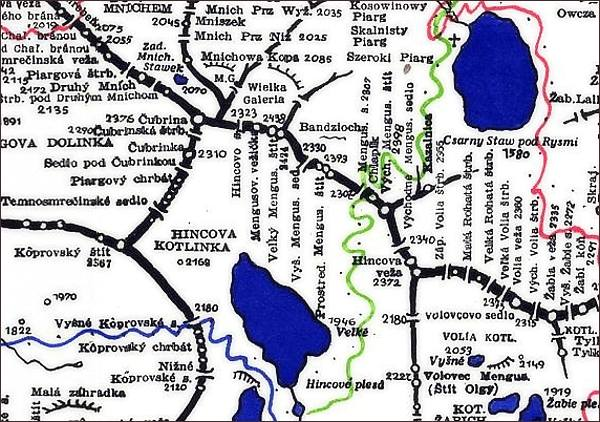 Hincova veža, mapa