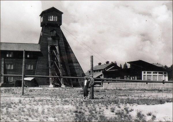 Důl Sauersack, dobová fotografie (zdroj kvmuz.cz)
