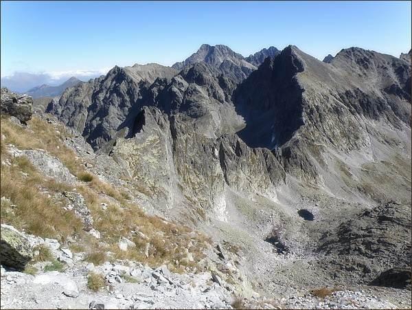 Závěr Velickej doliny z Litvorového sedla