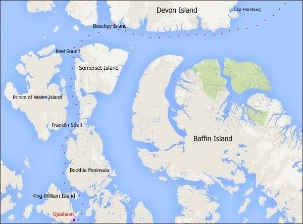 Rok 1903: Mapa druhého úseku cesty