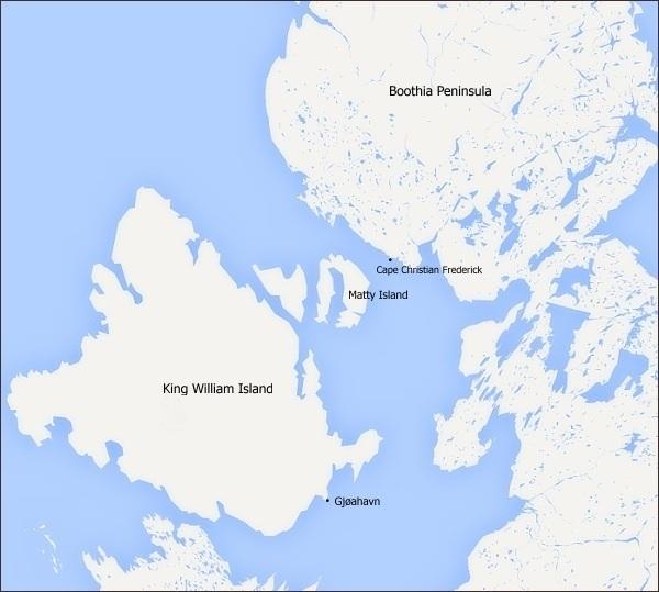 Oblast Ostrova krále Williama, poloostrova Boothia, Gjøahavn