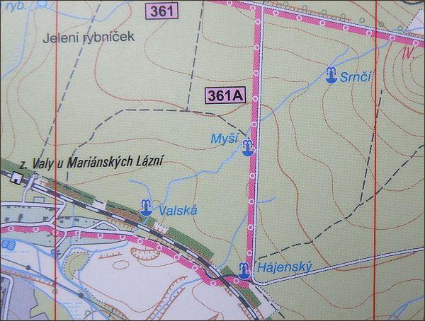 Lokalizace neexistující Valské kyselky