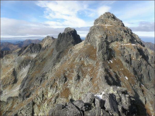 Mengusovské štíty (nejblíže Východný, dále Prostredný a Veľký) z Hincovej veže
