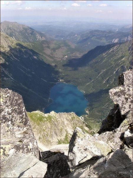 Dolina Rybiego Potoku z Prostredného Mengusovského sedla