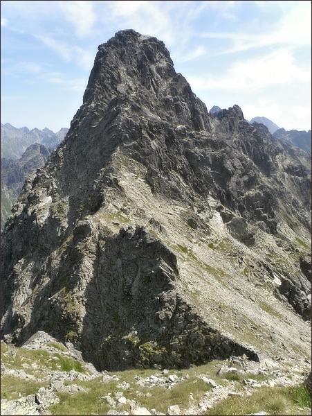 Veľký Mengusovský štít nad Hincovým sedlom