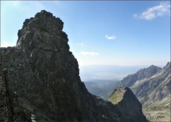 Hincova veža a Volovec mengusovský z Východného Mengusovského sedla