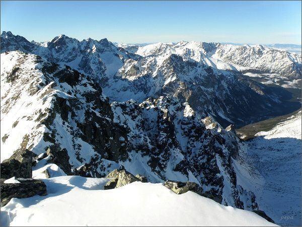 Pohled z Prostredného Svišťového štítu k severozápadu