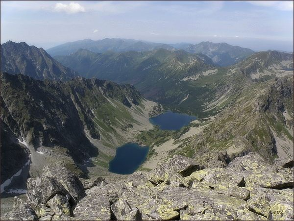Temnosmrečinská dolina a Temnosmrečinské plesá z Čubriny