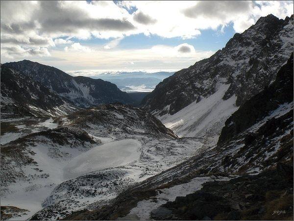 Malé Hincovo pleso a Mengusovská dolina zpod Vyšného Kôprovského sedla