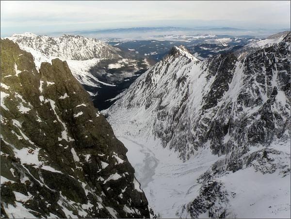 Dolina Rybiego Potoku z Východnej Volej štrbiny