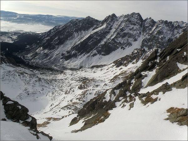 Mengusovská dolina z Východnej Volej štrbiny