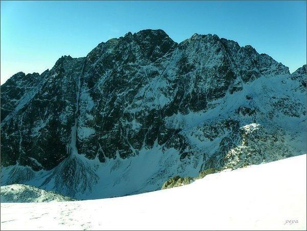 Gerlachovský štít a Zadný Gerlach ze Studeného sedla