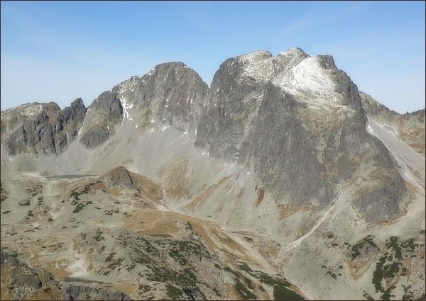Javorové štíty (Malý vlevo) z Východnej Slavkovskej veže