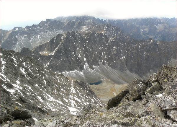 Javorové štíty (uprostřed) z Ľadového štítu