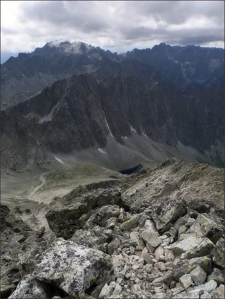 Javorové štíty (uprostřed) z Malého Ľadového štítu