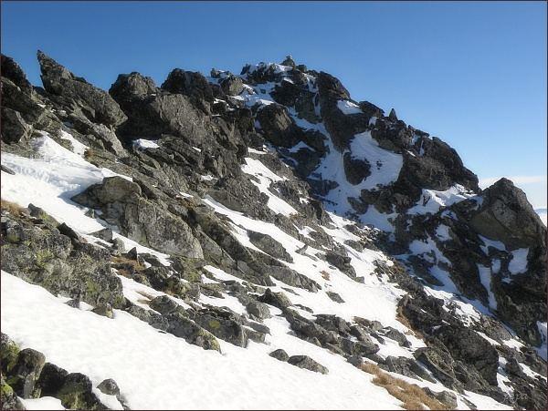 Kupola, vrcholová partie nad Velickou dolinou