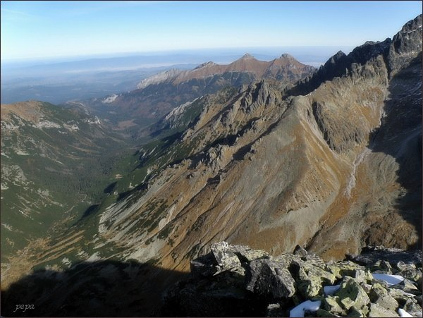 Javorová dolina a Belianske Tatry z Malého Javorového štítu