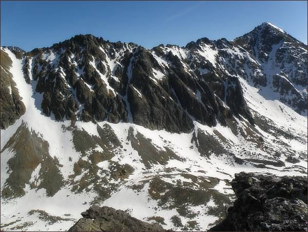 Slavkovská dolina, Vareškový hrebeň a Slavkovský štít z Velickej kopy