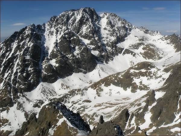 Velická dolina a masív Gerlachovského štítu z Veľkej Granátovej veže