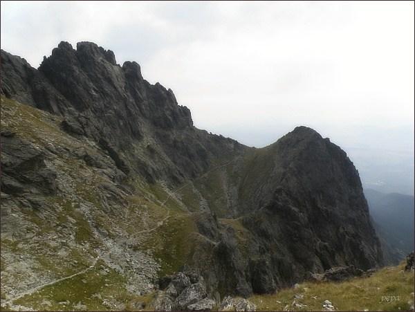 Velická stena a Dvojitá veža od Granátovej steny