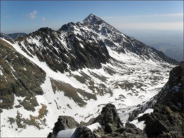 Slavkovská dolina a Slavkovský štít z Veľkej Granátovej veže
