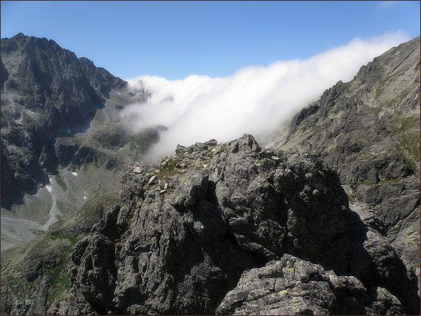 Závěr Velickej doliny z Opálovej steny