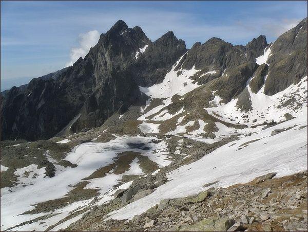 Malá Studená dolina. Prostredný hrot. Pohled z Mačacieho kotla