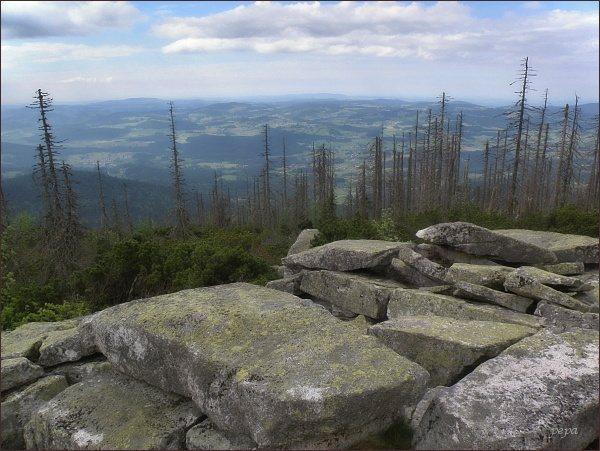 Pohled z Trojmezné hory do Bavorska