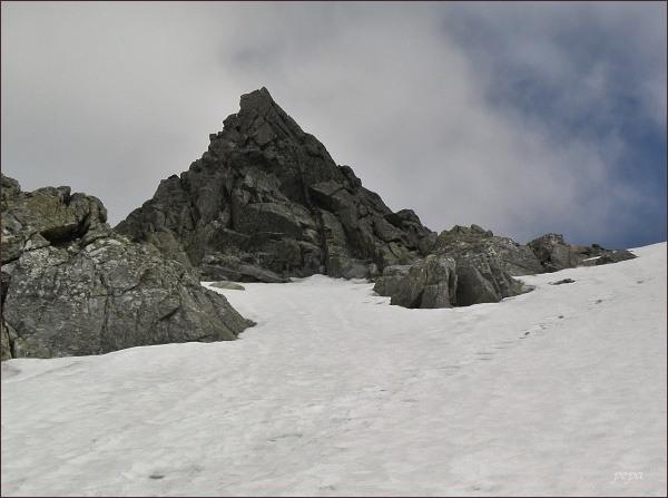 Spišská ihla ze strany Malej Studenej doliny