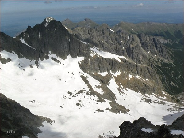 Veľká Zmrzlá dolina a Čierny štít ze Spišskej ihly