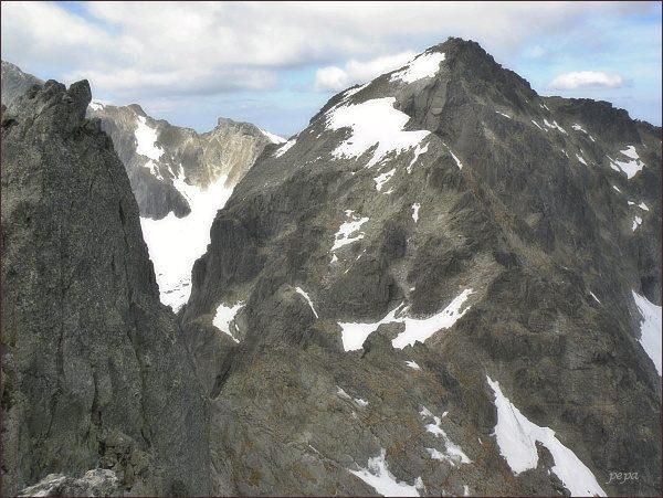 Baranie rohy z JV vrcholu Spišského štítu