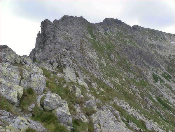 Wielki Wołoszyn (vrchol mírně vpravo) a (vpravo od něj) Mały Wołoszyn