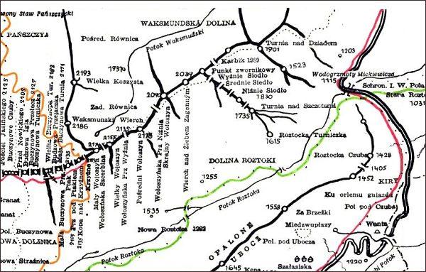 Wołoszyn, mapa