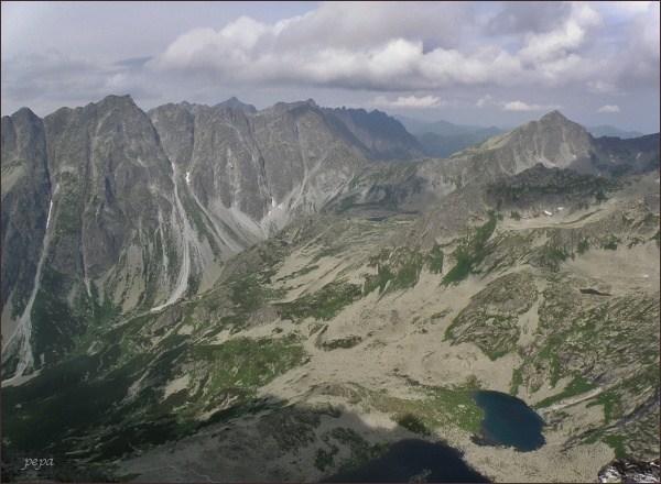 Hrebeň Bášt a Kôprovský štít z Kôpok