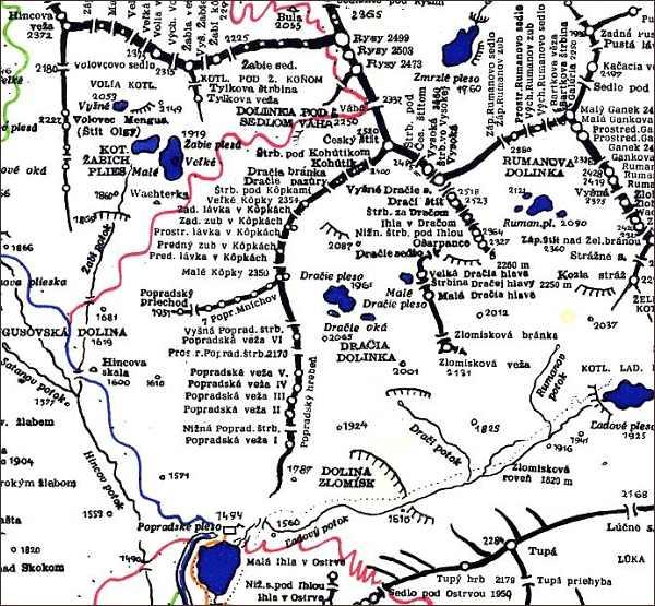 Kôpky,mapa
