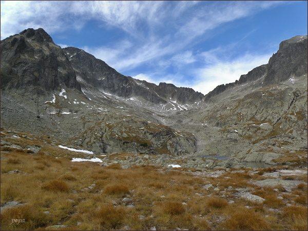 Snehový štít v závěru Malej Studenej doliny