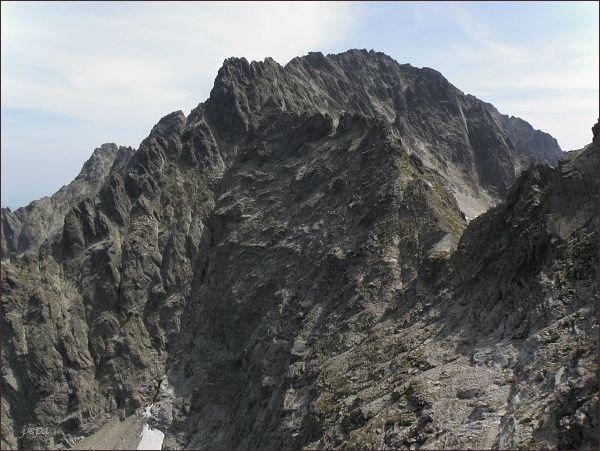 Ľadové sedlo a masív Baraních rohov ze Snehového štítu