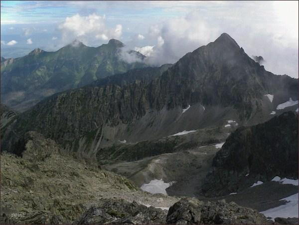 Kolový štít a Belianske Tatry ze Snehovej strážnice