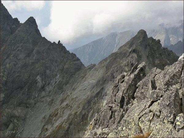 Drúk, Sedlo pod Drúkom a Popradský Ľadovový štít z Kačacieho štítu