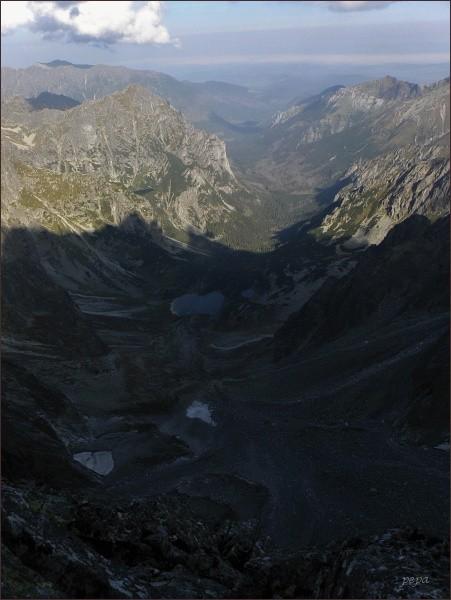 Kačacia a Bielovodská dolina z Batizovského štítu