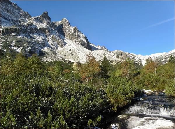 Kombinace dvou ročních období. Veľká Studená dolina