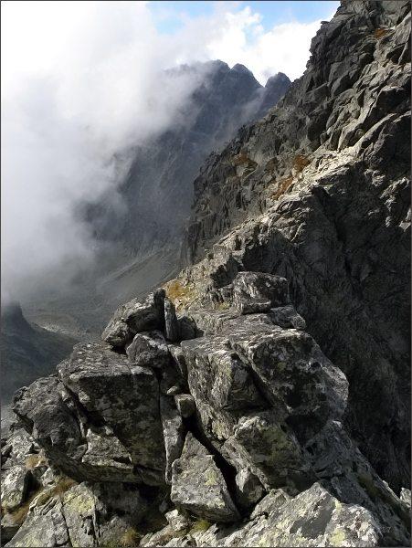 Na Batizovskom hrbe. Pohled do Batizovskej doliny