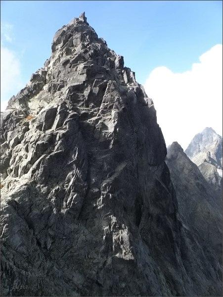 Batizovský štít (východný vrchol) z Batizovského hrbu