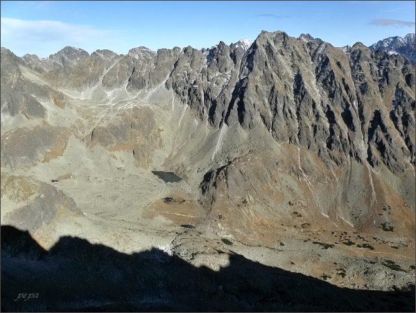 Mlynická dolina a Hrebeň Bášt (nejvyšší Satan) z Malého Soliska